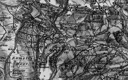 Old map of Bank Green in 1896