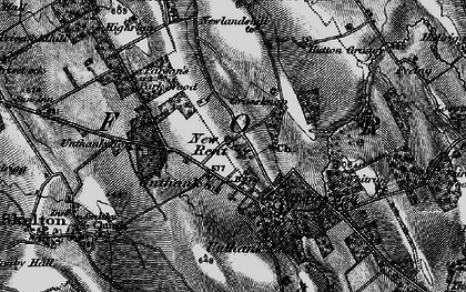 Old map of Whitrigg in 1897