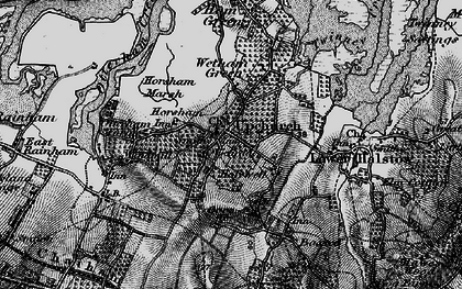 Old map of Upchurch in 1895