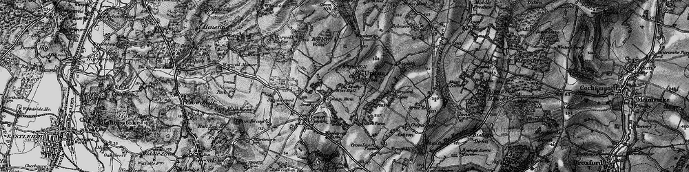 Old map of White Hills in 1895