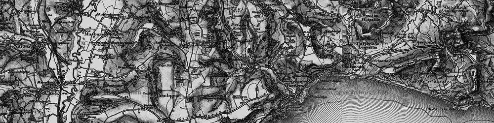 Old map of Uplyme in 1897