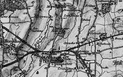 Old map of Upminster in 1896