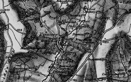 Old map of Upottery in 1898