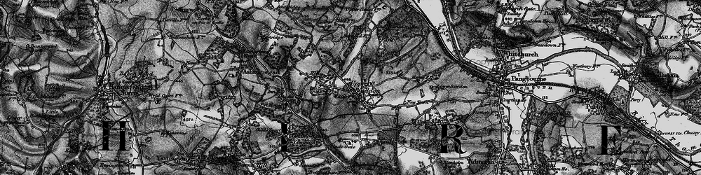 Old map of Upper Basildon in 1895