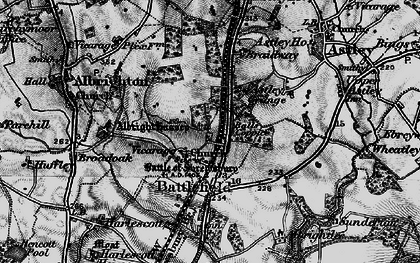 Old map of Albright Hussey in 1899
