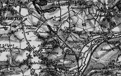 Old map of Upper Birchwood in 1896