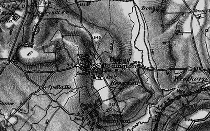 Old map of Upper Boddington in 1896
