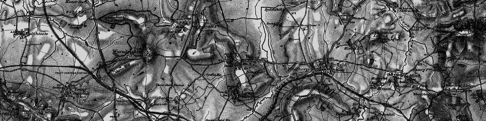 Old map of Upper Boddington in 1896