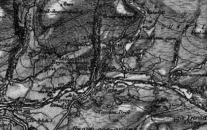Old map of Upper Brynamman in 1898