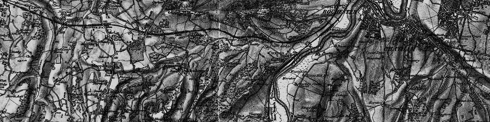 Old map of Wingate Wood in 1895