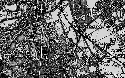 Old map of Upper Clapton in 1896