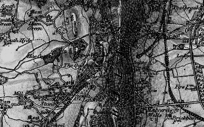 Old map of Linden in 1898