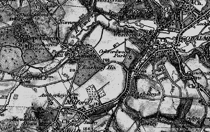 Old map of Upper Eashing in 1896