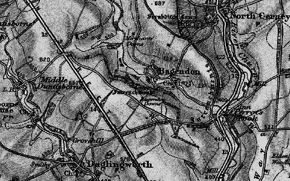Old map of Bagendon Downs in 1896