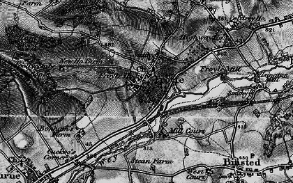 Old map of Yarnhams in 1895