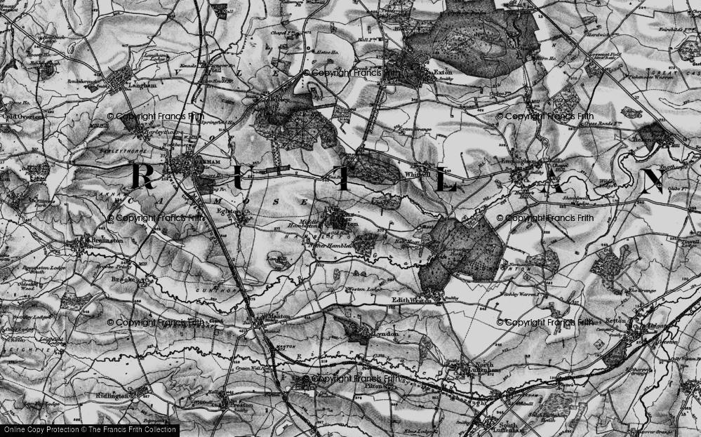 Old Map of Upper Hambleton, 1895 in 1895