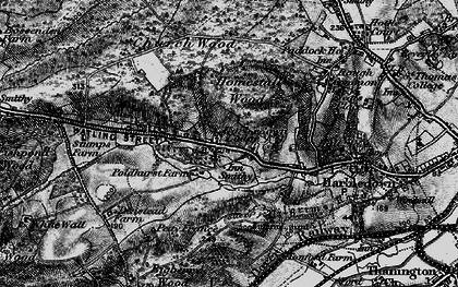 Old map of Tonford Manor in 1895