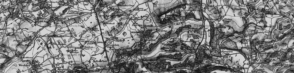 Old map of Winsley Ho in 1898