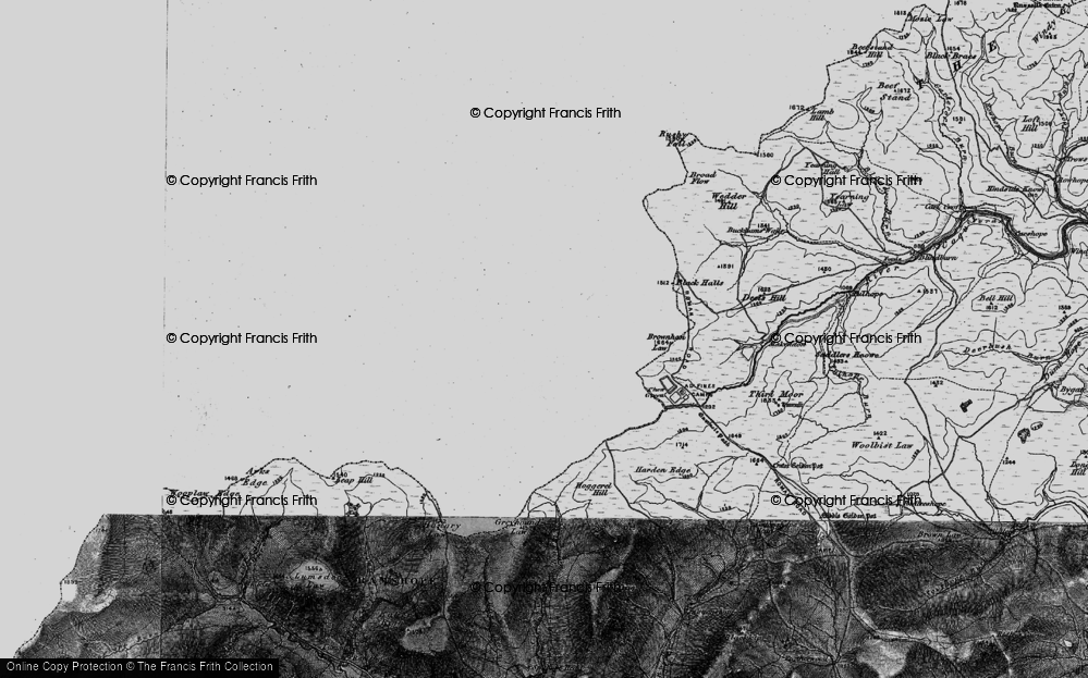 Old Map of Historic Map covering Leithope Forest in 1897