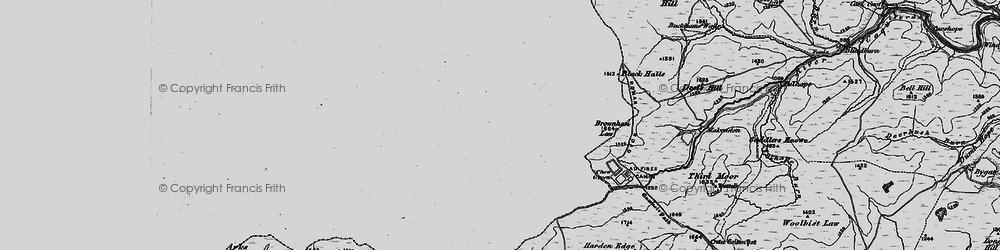 Old map of Leithope Forest in 1897