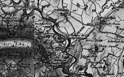 Old map of Upper Hodder in 1896