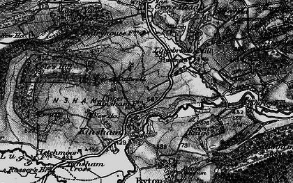 Old map of Lingen Vallet Wood in 1899