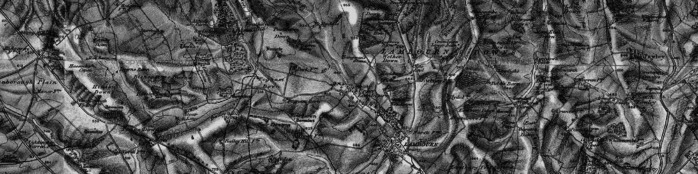 Old map of Whit Coombe in 1895