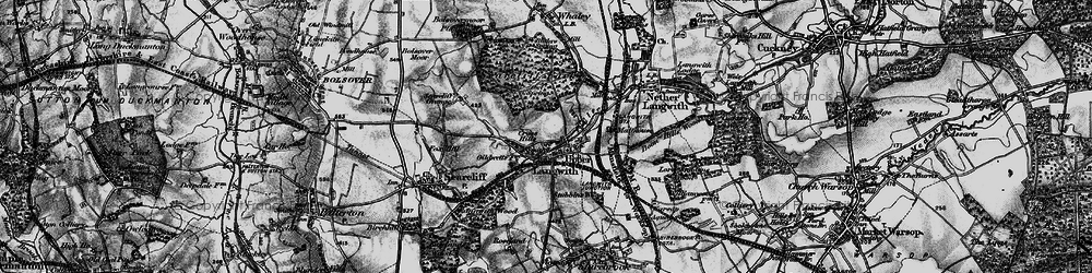 Old map of Upper Langwith in 1899