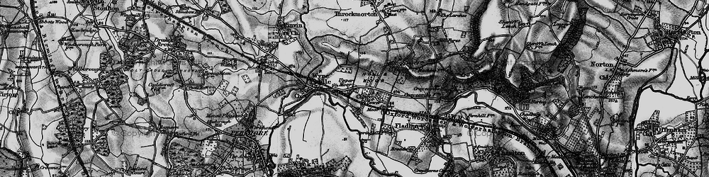 Old map of Lench Ditch in 1898