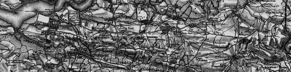Old map of Winter Hall in 1898