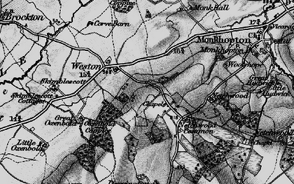 Old map of Woolshope in 1899
