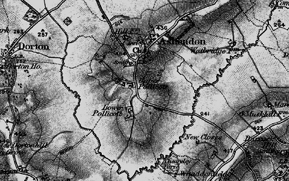 Old map of Upper Pollicott in 1895