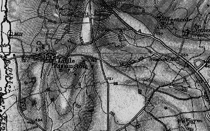 Old map of Westcote Hill in 1896