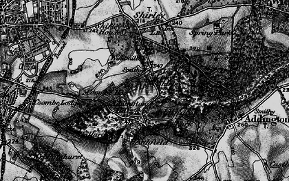 Old map of Addington Hills in 1895