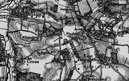 Old map of Whiteford Hall in 1898