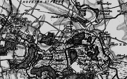 Old map of Wroxham Broad in 1898