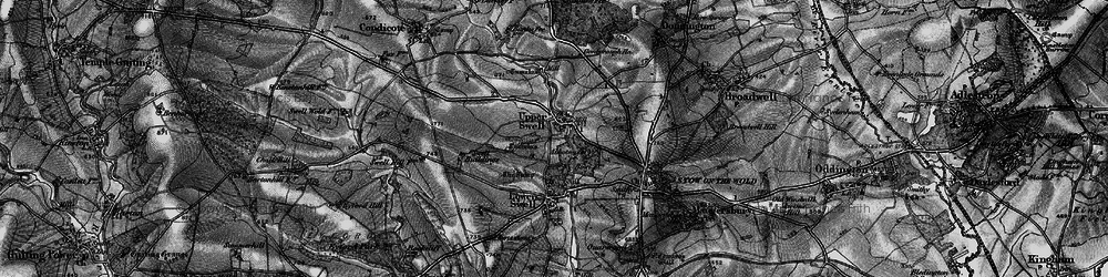 Old map of Abbotswood in 1896