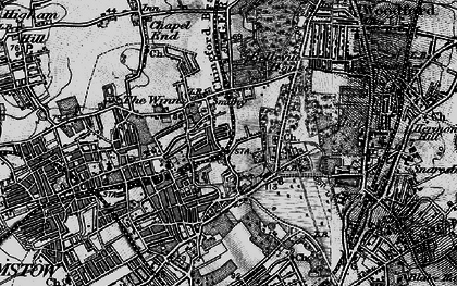 Old map of Whipps Cross Hospl in 1896