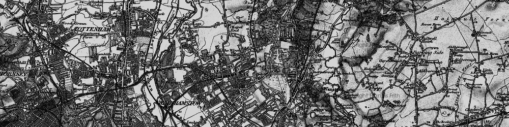 Old map of Upper Walthamstow in 1896