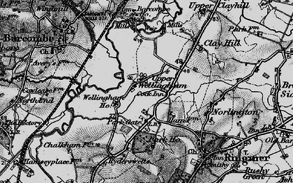 Old map of Barcombe Ho in 1895