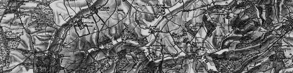 Old map of Wield Wood in 1895