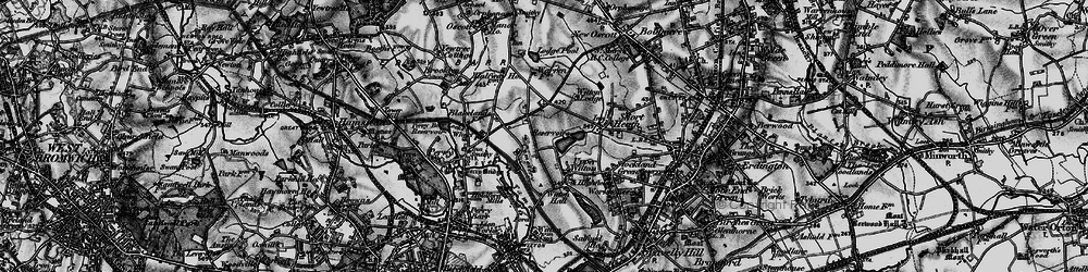 Old map of Witton Lakes in 1899
