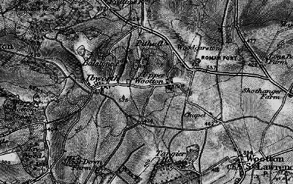 Old map of Whitedown in 1895