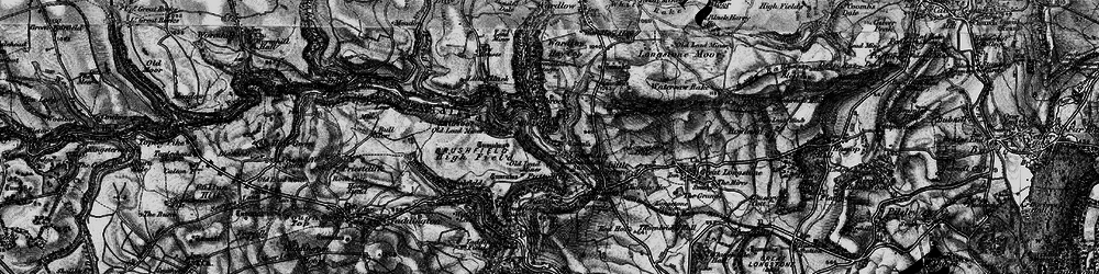 Old map of Monsal Dale in 1896
