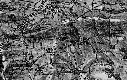 Old map of West Raddon in 1898