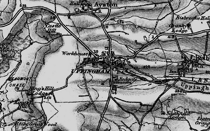 Old map of Uppingham in 1899