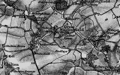 Old map of Badleys in 1896