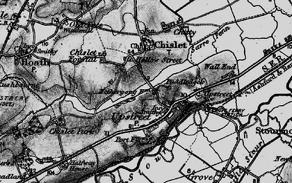 Old map of Upstreet in 1895