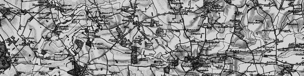 Old map of Wyken Wood in 1898