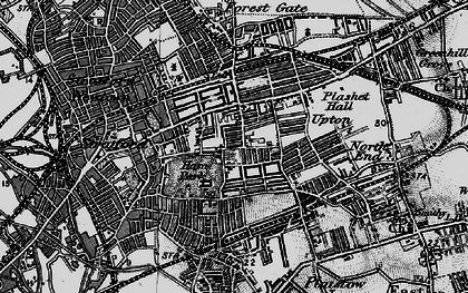 Old map of Upton in 1896